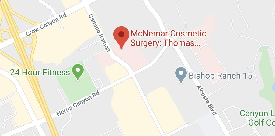Directions to McNemar Plastic Surgery's San Ramon location
